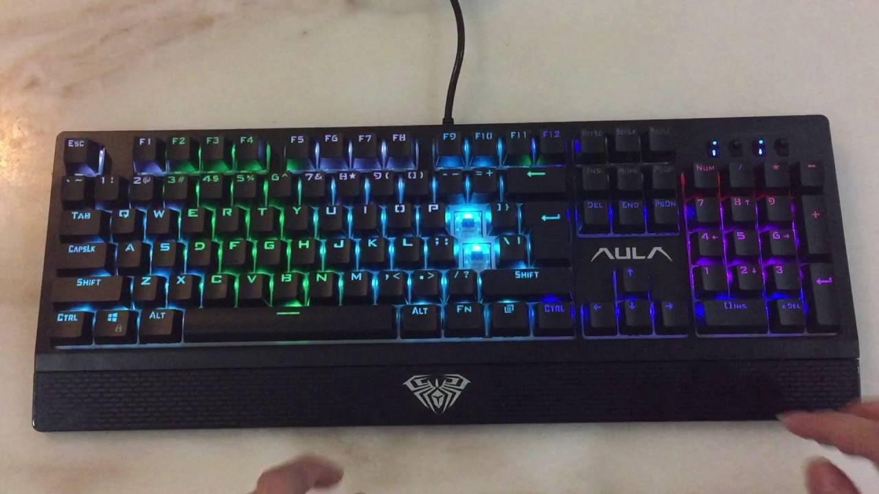 e3bd0f4eba2 Aula Wings of Liberty RGB Mechanical Keyboard(testing) - YouTube