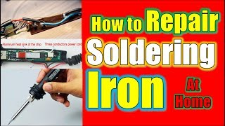 How to repair soldering iron | Soldering Iron Repair at Home |