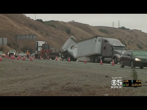 Fatal Big-Rig Collision On 580 Near Castro Valley Snarls Morning Traffic