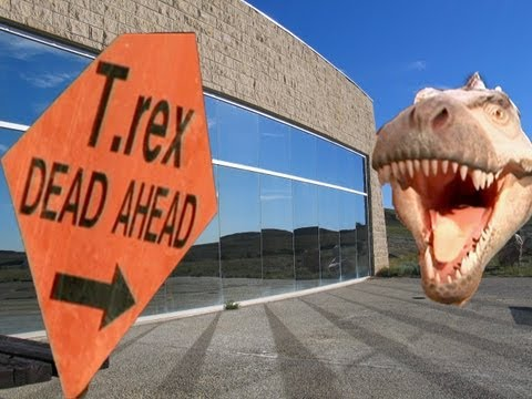 T-Rex Dead Ahead at Dinosaur Discovery Centre