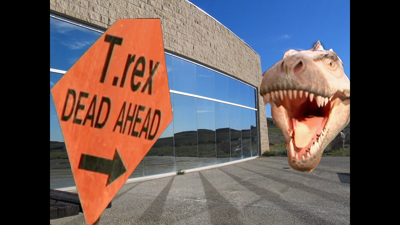 T-Rex Dead Ahead at Dinosaur Discovery Centre - YouTube