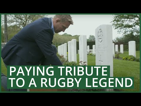 The CWGC and RFU pay tribute to Rugby legend Ronald Poulton Palmer