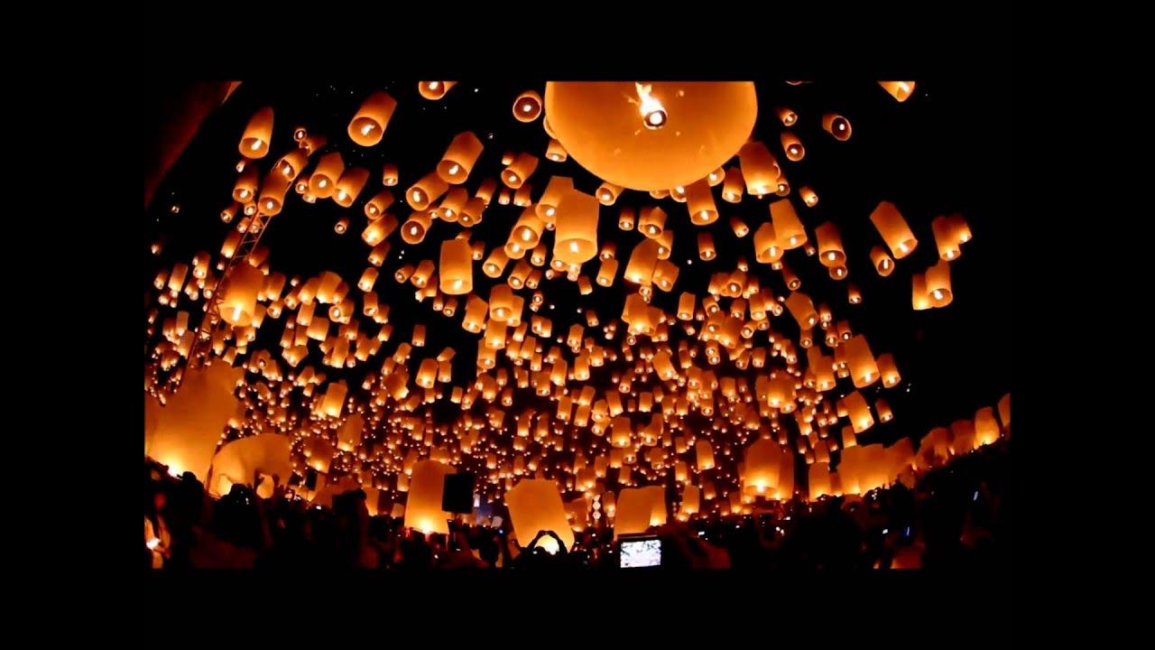 Yee Peng Festival - Floating Lanterns Festival 2011 Chiang Mai ... for Flying Lantern Lights  585ifm