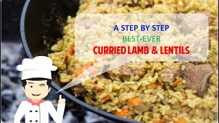 HEALTHY AND YUMMY CURRIED LAMB AND LENTILS