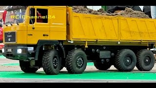AWESOME RC TRUCK, EXCAVATOR, SEMITRUCK, DOZER AND MORE ON THE CONSTRUCTION SITE!