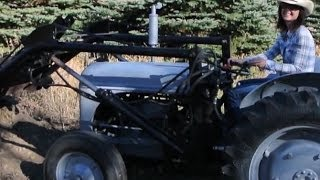 Homemade Front End Loader on Ford 2N Tractor