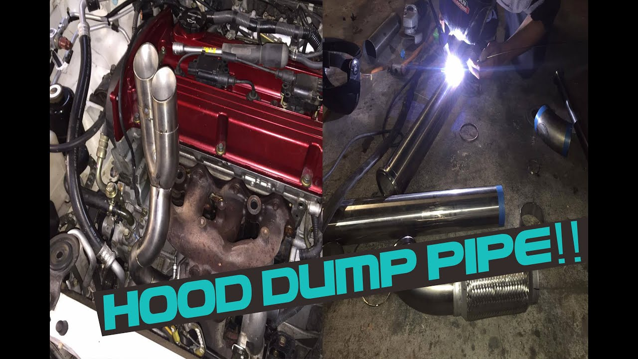 maxresdefault evo 8 build part 5 making downpipe, hood dump! and wiring youtube evo 8 wing at mifinder.co