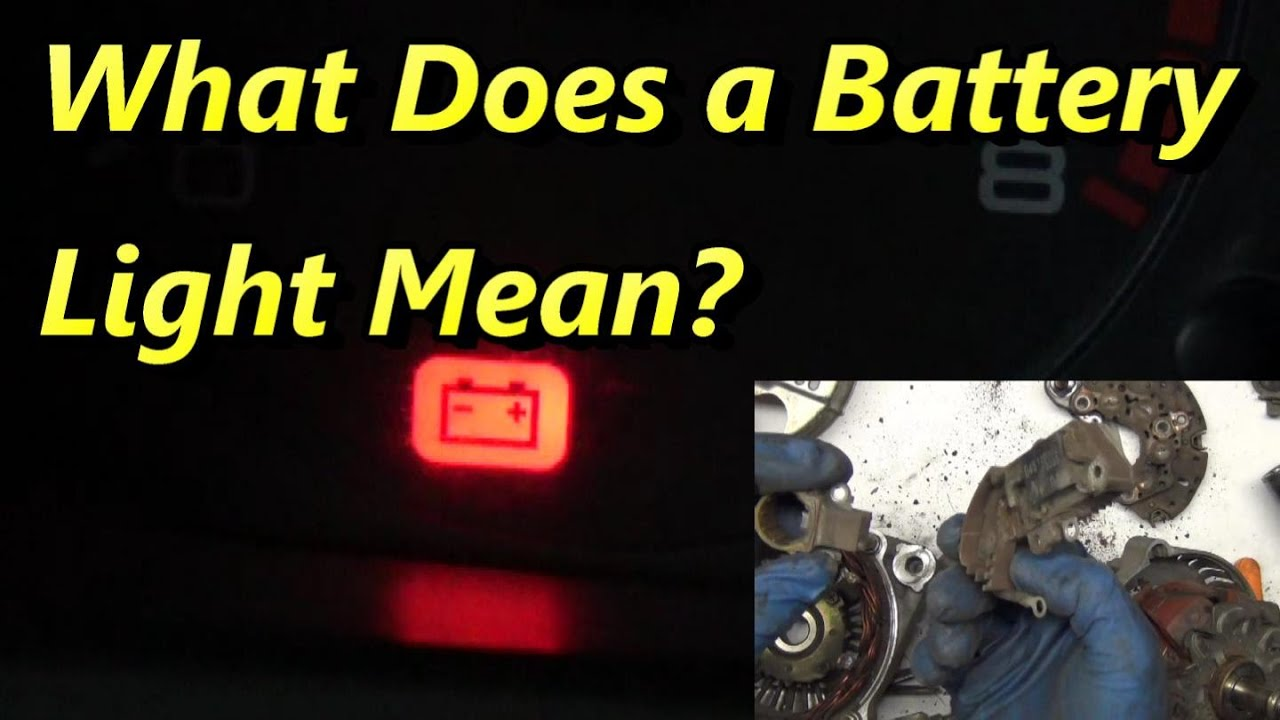 what makes the battery light come on youtube