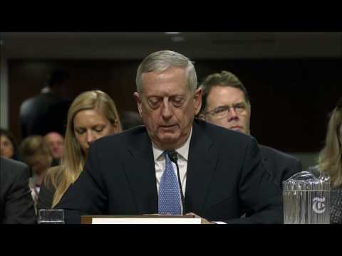 James Mattis's Confirmation Hearing