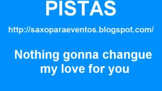 Pista y partitura de Nothing gonna change my love for you para saxo