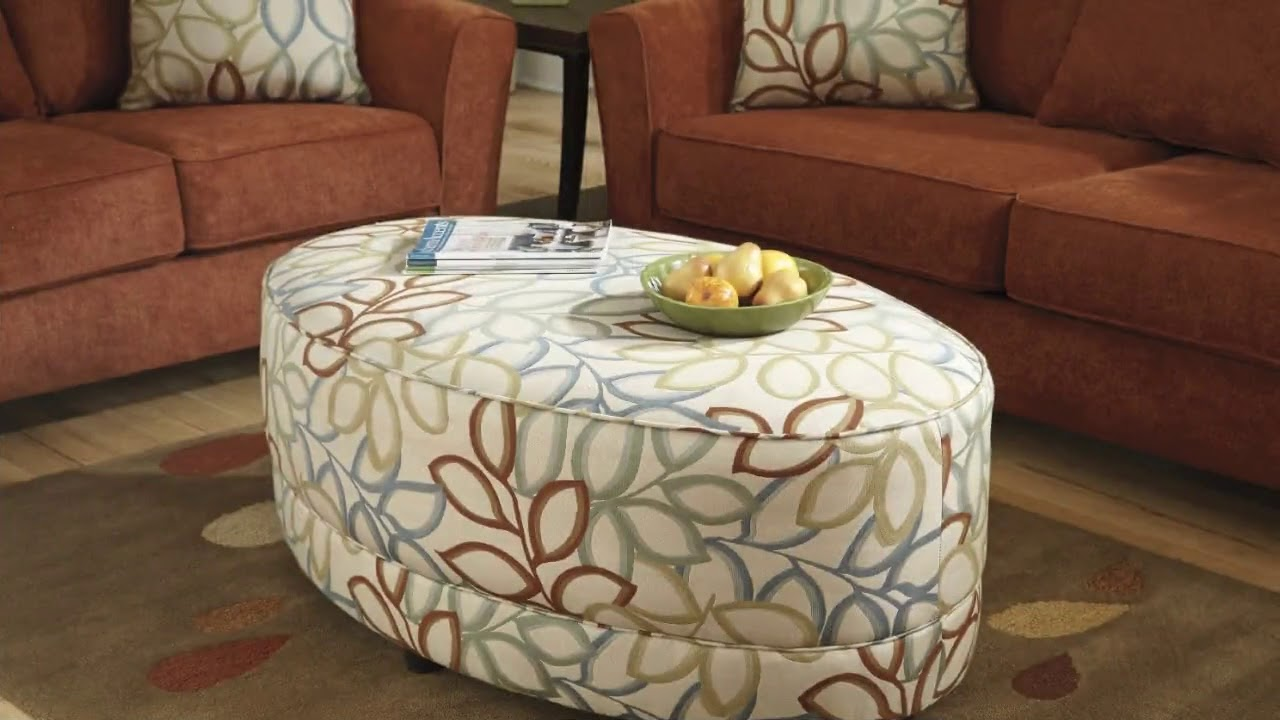 fabric oval ottoman coffee table designs