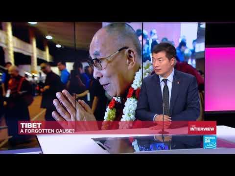 CTA President Dr Lobsang Sangay speaks to France 24's Marc Perelman