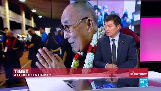 CTA President Dr Lobsang Sangay speaks to France 24's Marc Perelman