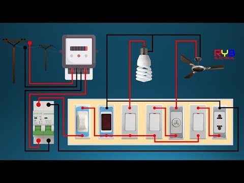 electrical switch board wiring diagram  diy house wiring