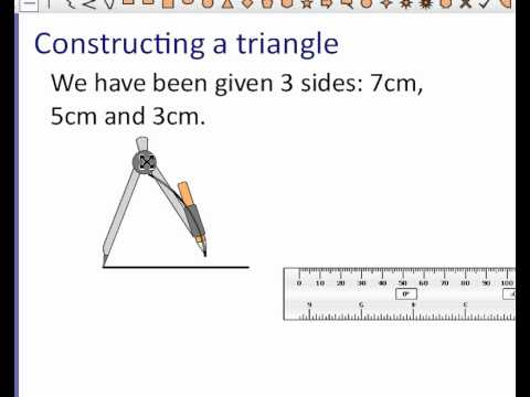 constructing a triangle given three sides youtube. Black Bedroom Furniture Sets. Home Design Ideas