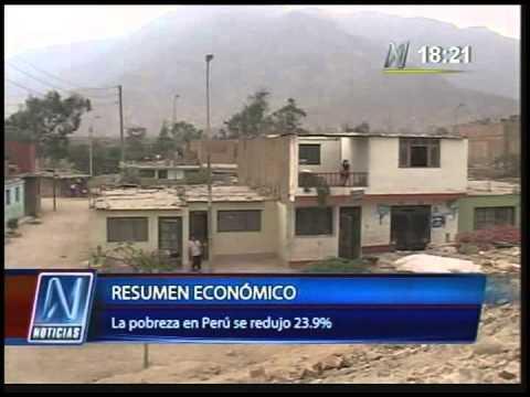 Canal N Noticias - La pobreza en Perú se redujo 23 9% en 2013 - 02 05 14