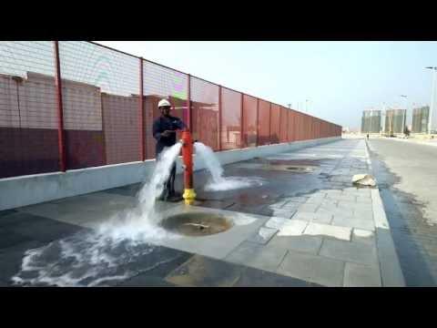Eko Atlantic Fire Hydrant - Water runs in the city - Lagos, Nigeria