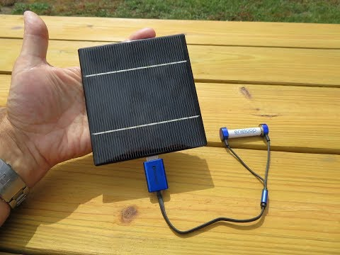 AA Battery charging  solar panel and OLIGHT magnetic charger aaa