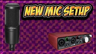 Vlog: Mic Setup Update & Unboxing AT2020, Mic Arm & Scarlett 2i2