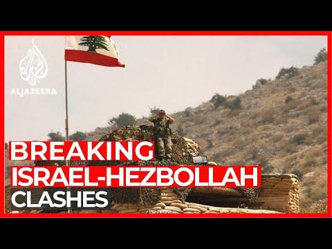 Hezbollah Fighters Battle Israeli Troops On Northern Frontier