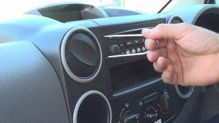 Radio Removal Peugeot Partner 1996-Present | JustAudioTips