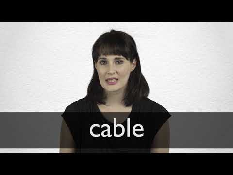 How to pronounce CABLE in British English