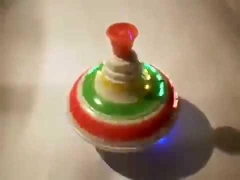 Видео обзор детская игрушка - Юла светящаяся музыкальная CRAZY FROG