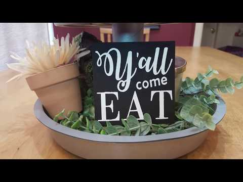 DIY FARMHOUSE | Kitchen Signs | Dollar Tree Wood Sign Makeover!