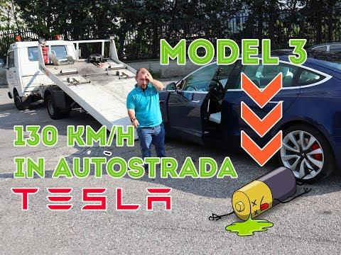 Tesla Model 3 in Autostrada 130 km/h , ci lascia a piedi ? quanti km siamo riusciti a fare !