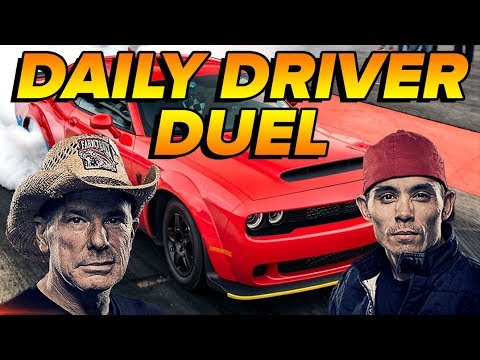 Farmtruck & AZN Daily Driver Duel | Dodge SRT Demon 1/4 MILE Drag Race