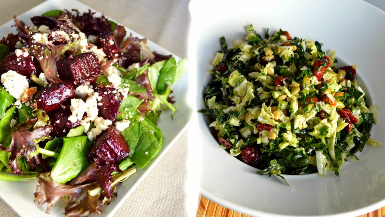 KALE and NAPA CABBAGE SALAD | ROASTED BEET SALAD | Quick and Easy Recipes |Cooking With Carolyn