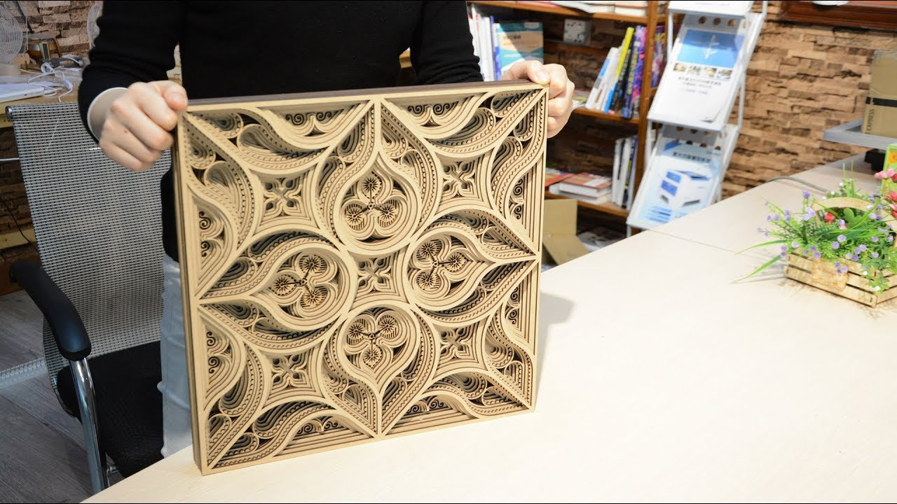 Laser Cut Wooden Arts And Crafts Youtube
