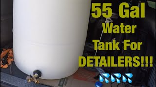 55 Gallon Drum Water Tank Conversion