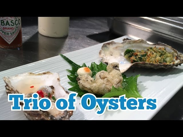 KITCHEN CRAFT - Trio of Oysters