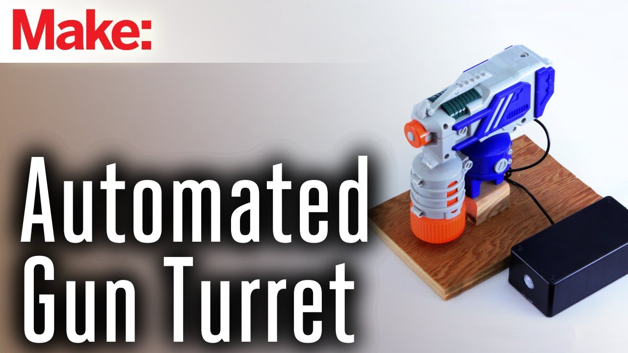 Motion Activated Water Gun Turret | Make: