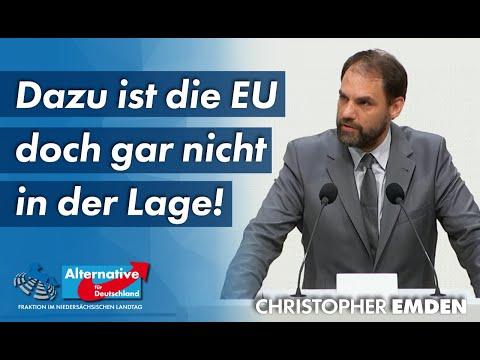 """""""Dazu ist die EU doch gar nicht in der Lage!"""" – Christopher Emden, MdL (AfD)"""