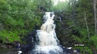 Jukankoski waterfall in Karelia