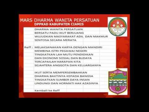 Mars Dharma Wanita Persatuan DPPKAD Kab. Ciamis (lirik)
