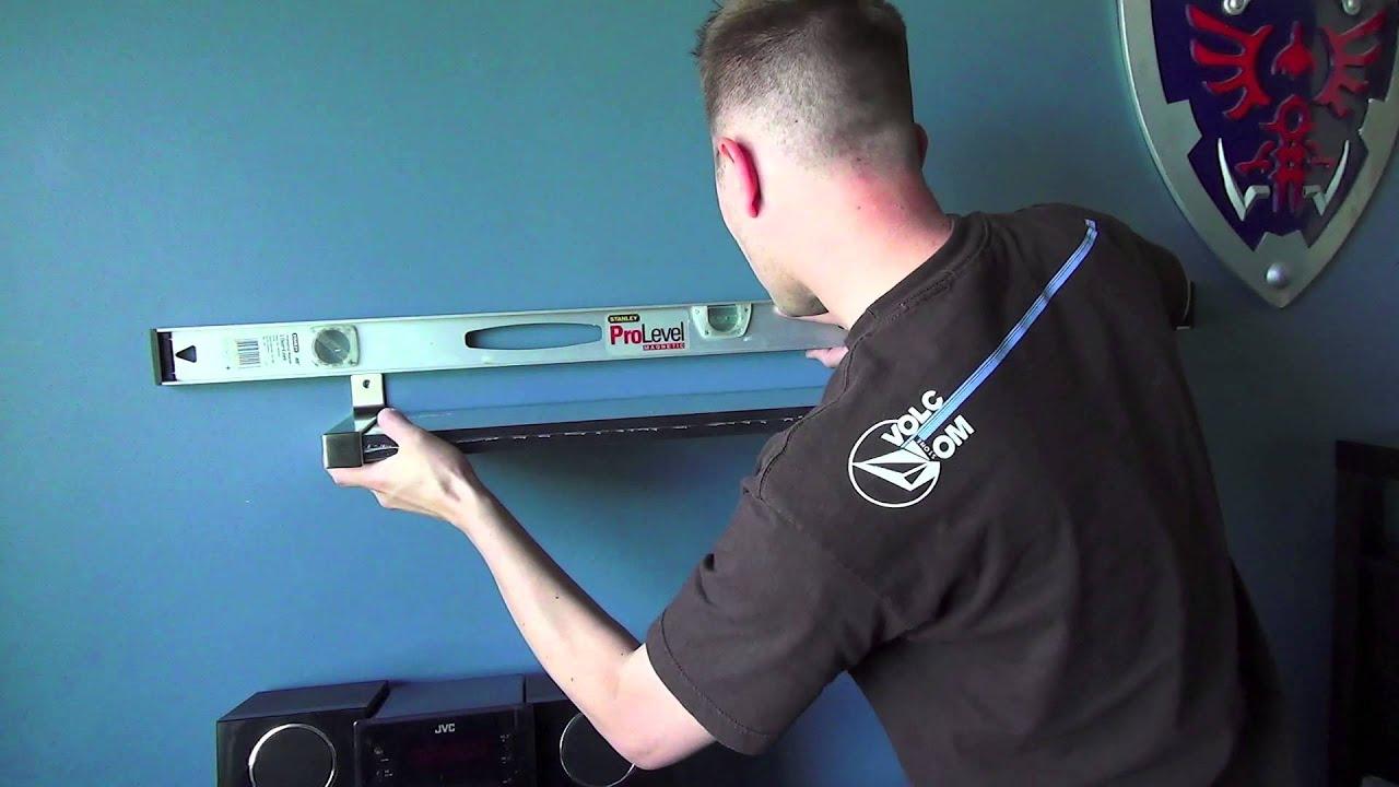 How to install an IKEA wall shelf EKBY BJARNUM JARNUM
