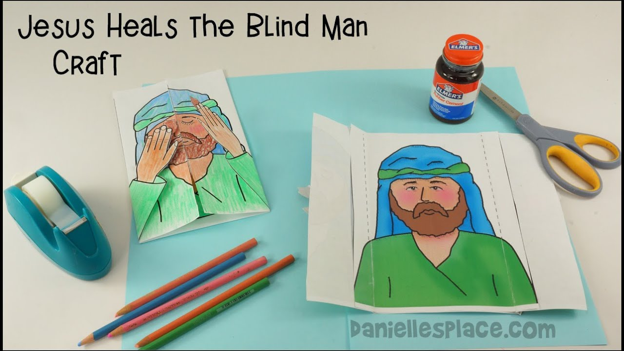 Jesus Heals The Blind Man Craft Youtube Free Coloring Pages Download