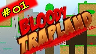 SUPER MEAT BOY + CAT MARIO !! - Bloody Trapland - #01