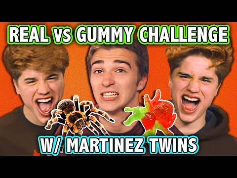 REAL FOOD VS GUMMY FOOD CHALLENGE! (ft. Martinez Twins) | Ch