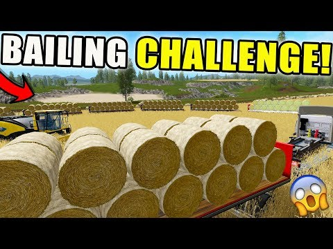 2018 BALING CHALLENGE | TRACKED KAMAZ | AUTO LOAD TRAILER | FARMING SIMULATOR 2017