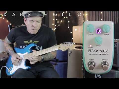 Billionaire by Danelectro - BIG SPENDER Spinning Speaker pedal demo