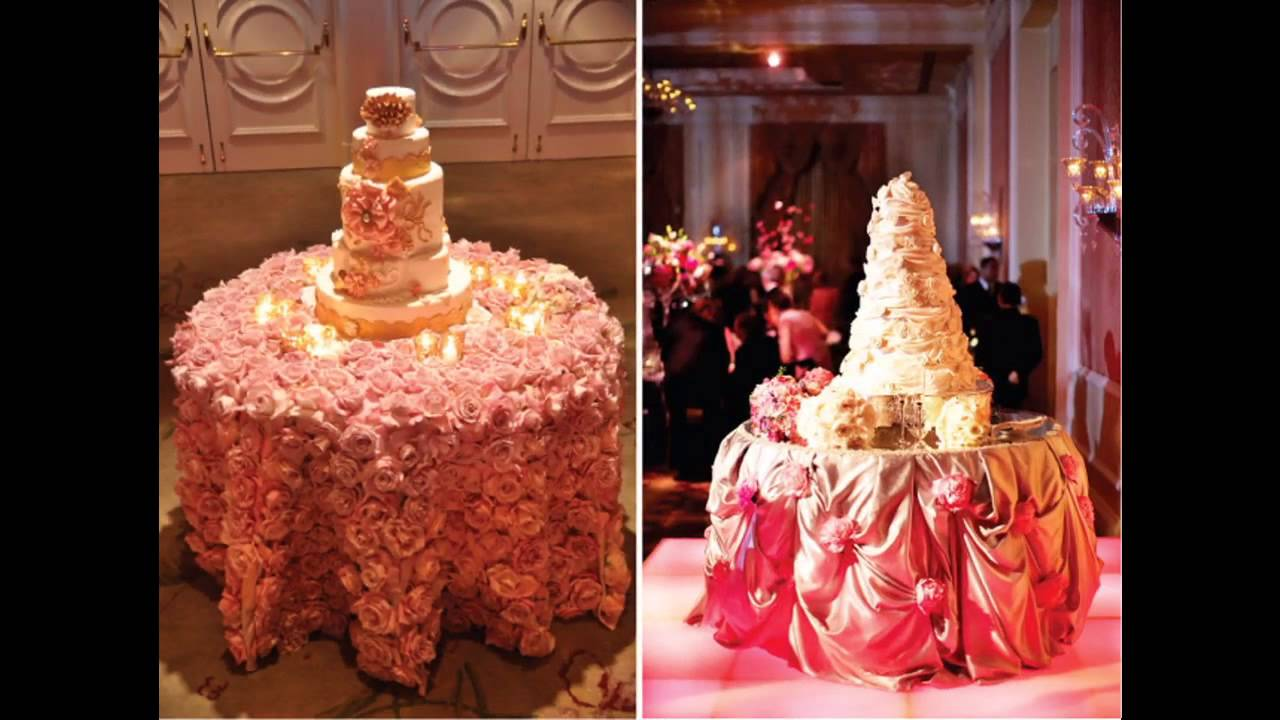 Easy Wedding Cake Table Decorations