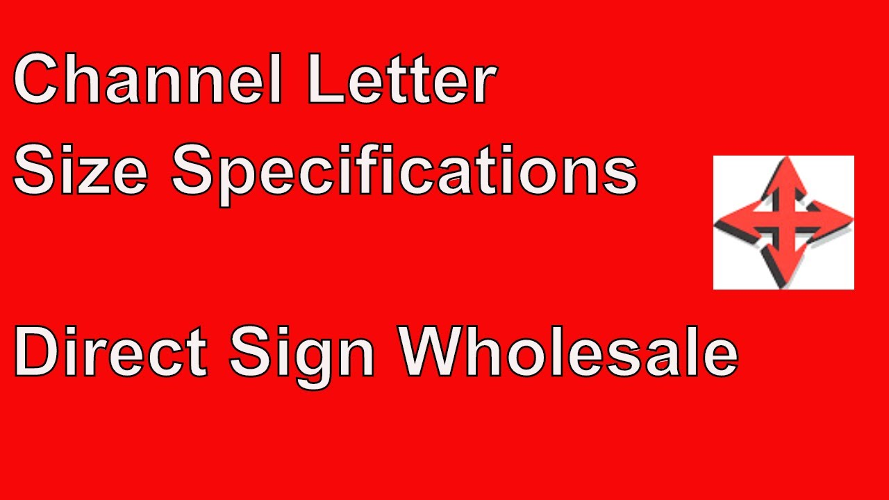 what is the minimum channel letter size youtube With direct wholesale channel letters