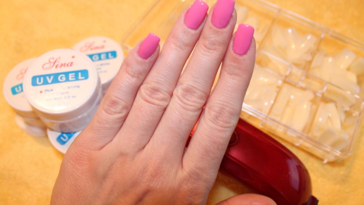 Наращивание ногтей на типсы в домашних условиях гелем
