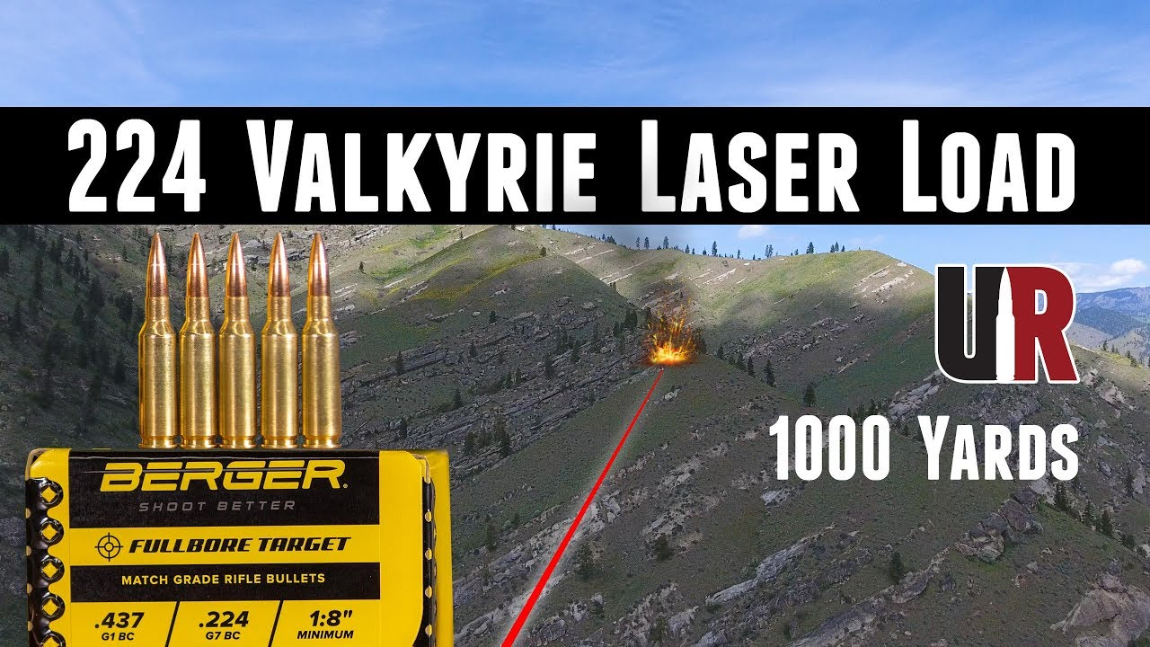 Amazing 224 Valkyrie Berger 80 5 Grain Load at 1000 Yards