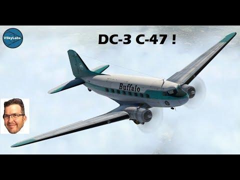 VSKYLABS DC-3 C-47 for X-Plane 11 Part 1 of 2 Startup