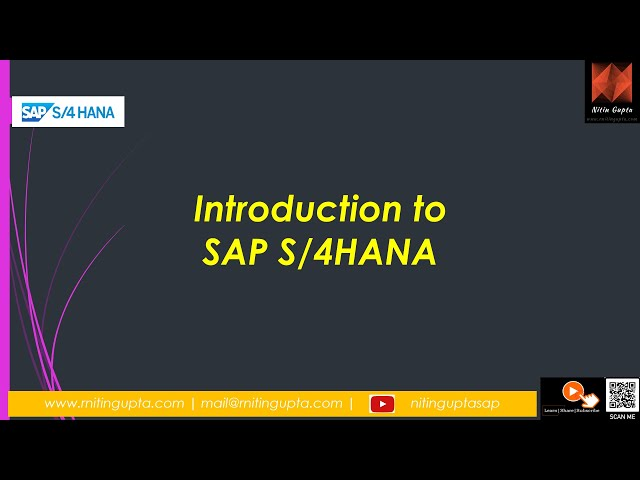SAP S/4HANA Training Session 1